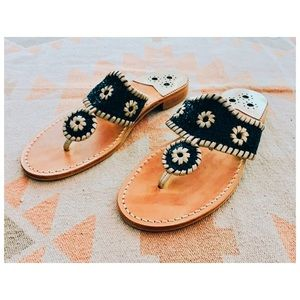 Jack Rogers | Navy Blue Glitter Sandals